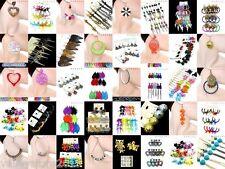 NEW LOT 15 FASHION EARRINGS Hoop Dangle Rings Necklaces Bracelets Bangles Mixed