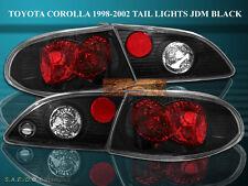 1998 1999 2000 2001 2002 Toyota Corolla Altezza Tail Lights Black 4 Pieces