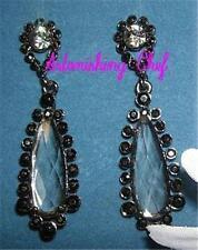 AVON BLACK DIAMOND COLOR DROP EARRINGS STUNNING!