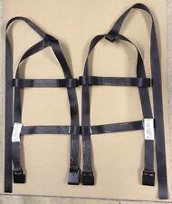 Tiedown Straps Adjustable Tow Dolly Wheel Net Set Flat Hooks fits STEHL BLACK 2T