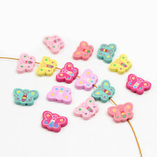 40X Wood Bead Butterfly Spacer Beading Wood Beads Kids Toys & Pacifier Clip 25mm