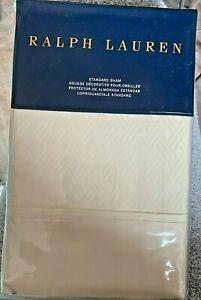 "Ralph Lauren Bedford Jacquard Standard Sham 20 x 28"" Essex Cream MSRP $185"