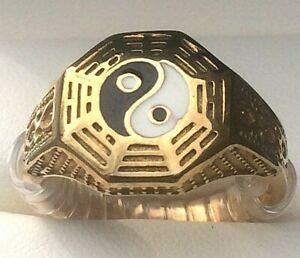 Yin Yang Symbol Ring Men's Stainless Steel