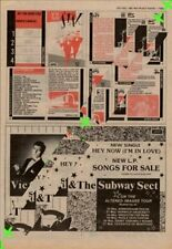 Vic Godard & The Subway Sect Altered Images Tour Advert NME Cutting 1982