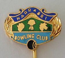 Narrabri Bowling Club Pin Badge Rare Lawn Bowls (L13)