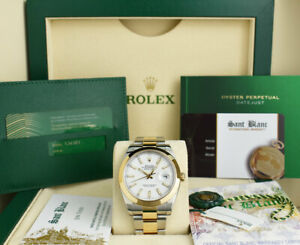 ROLEX - 2020 18kt Gold & SS DateJust 41 White Index Oyster 126303 - SANT BLANC