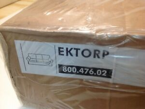 100% Cotton IKEA EKTORP 3 Seat Sofa Slipcover Blekinge White Cover New 2008