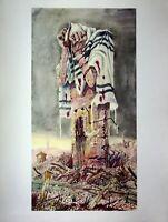Bronistaw Linke - el Pueblo Judío en Ruinas - Impresión Cuatricromía - Gran