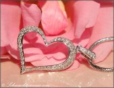 Halsketten und Anhänger aus Weißgold mit Diamanten Liebe & Herzen