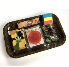 Rizla Rolling Tray Gift Set + 5 FREE ITEMS Raw Papers Tips Grinder Pipe Tin