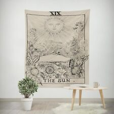 Tarot Sun Floral Hippie Wall Tapestry Hanging Throw Cover Home Room Decoration