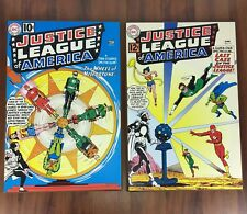 2 Justice League Of America Wood Hanging Sign Plaque Decor DC Comics Poster