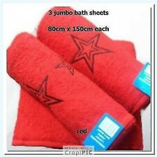 jumbo bath sheets set of 3 red