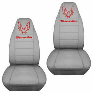 FITS 67-02 PONTIAC FIREBIRD CAR SEAT COVERS WITH DESIGN. DESIGN YOUR OWN