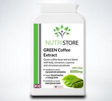 GREEN Coffee Bean Extract with CGA Kelp Iodine Cinnamon and Cayenne 8000mg