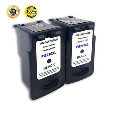 2 Pack PG 210XL Black Ink Cartridge For Canon PIXMA MP260 MP270 MX350 MX410