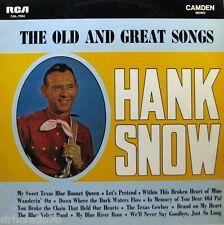 HANK SNOW The Old And Great Songs LP - Mono