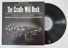 marc blitzsteins's the cradle will rock lp original 1937 production  vg+/m-
