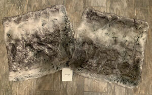 Set Of 2 Pier 1 Glitzhome Faux Fur 18x18 Pillow Covers. New with Tags.