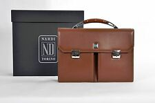 Nardi Limited Edition Leather Suitcase with Wood Handle