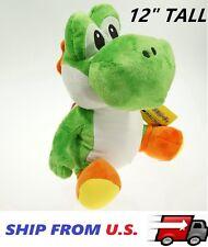 "12"" Green Yoshi Stuffed Animal Nintendo Plush Soft toy Super Mario Bros Doll USA"