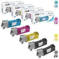 LD Xerox Phaser 6500 Toner Cartridge Set High Yield 106R01597 Black Cyan Magenta