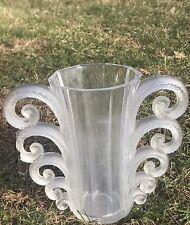 1931 Rene Lalique Wingen Sur Moder Beauvais Two Handle Vase. Break On One Handle