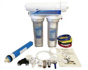 3 Stage Aquarium Reverse Osmosis System RO Unit 50GPD for Tropical Marine Discus