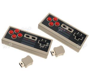 1paar Wireless Gamepad Controller Joystick für Nintendo Mini Classic NES Set