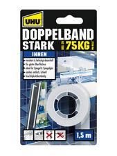 UHU Doppelband stark, doppelseitiges Montageband, 1,5m x 19mm