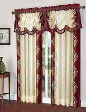 Danbury Embroidered Window Curtain & Valance Treatments - Assorted Colors