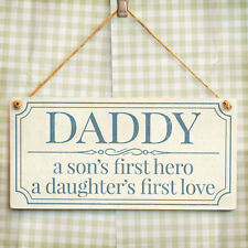 Daddy A Son's First Hero A Daughter's First Love - Cute Gift For Dad From Kids
