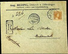 LUXEMBOURG 1913 REGISTERED DIEKIROH COVER
