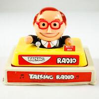 Talking Radio Music Man OVP Blister Design Novelty Vintage 70er Jahre