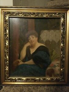 HENRY BOUVET (1859-1945) SIGNED OIL PAINTING Circa 1900