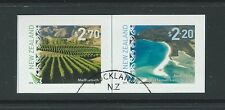 NEW ZEALAND 2016 SCENIC DEFINITIVES SET OF 2 SELF ADHESIVE FINE USED