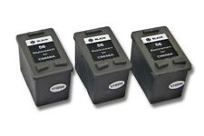 3St. original vhbw® Drucker Patronen black für HP 56 OFFICEJET 5515 5610 6110