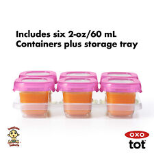 OXO Tot Baby Blocks Freezer Storage Containers (2 Oz) Pink Authentic Brand New