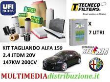 KIT TAGLIANDO FILTRI+ 7LT OLIO ORIGINALE SELENIA 5W-40 ALFA 159 2.4 JTD 200CV