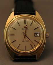 Gold Plated Band Quartz (Battery) Watches OMEGA
