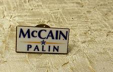 JOHN MCCAIN  SARAH PALIN 2008   LAPEL TIE HAT PIN  POLITICAL CAMPAIGN PIN