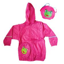 Playshoes Regenjacke Frosch mit integrierter Tasche, rosa, Gr. 140
