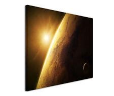 120x80cm Leinwandbild auf Keilrahmen Weltall Weltraum Planet Erde Universum