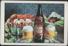 Playing Cards 1 Single Card Old Vintage * SWAN LAGER * Beer Brewery Advertising