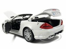 2011 MERCEDES SL63 SL 63 CONVERTIBLE AMG WHITE 1/18 MODEL CAR BY MAISTO 31168