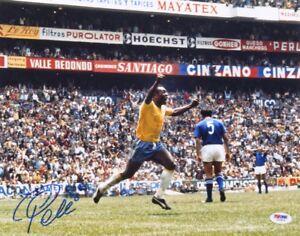 Pele Signed Brazil 11x14 Photo (PSA COA)