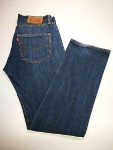 Levi's 501 Mens Jeans, W32 L32 (See Desc), Blue, 100% Cotton, Good Cond R921