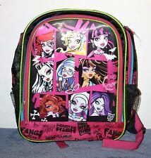Monster High Knapsack Book Bag - Good Condition 2013 Mattel