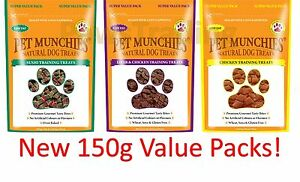 Value Big Pack Pet Munchies Dog Training Treats Natural - Chicken Sushi Liver