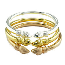 3 Pcs Gold And Pink Gold And Silver Plated Bracelet Lotus 24K Centre Good Export